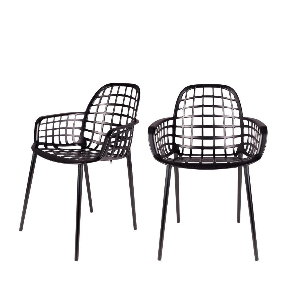 Zuiver 2 chaises indoor et outdoor noir