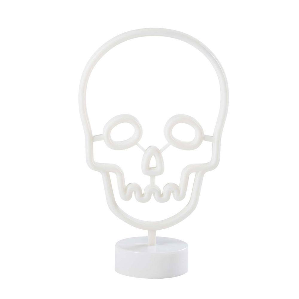 Maisons du Monde Déco lumineuse tête de mort blanche