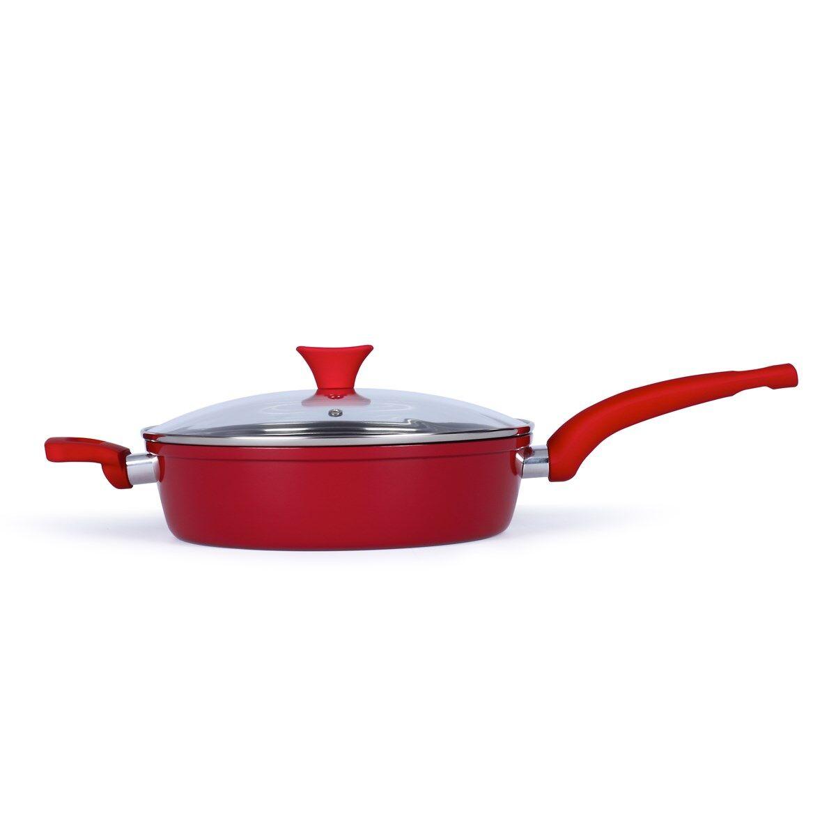 Livoo Sauteuse 26cm en aluminium rouge