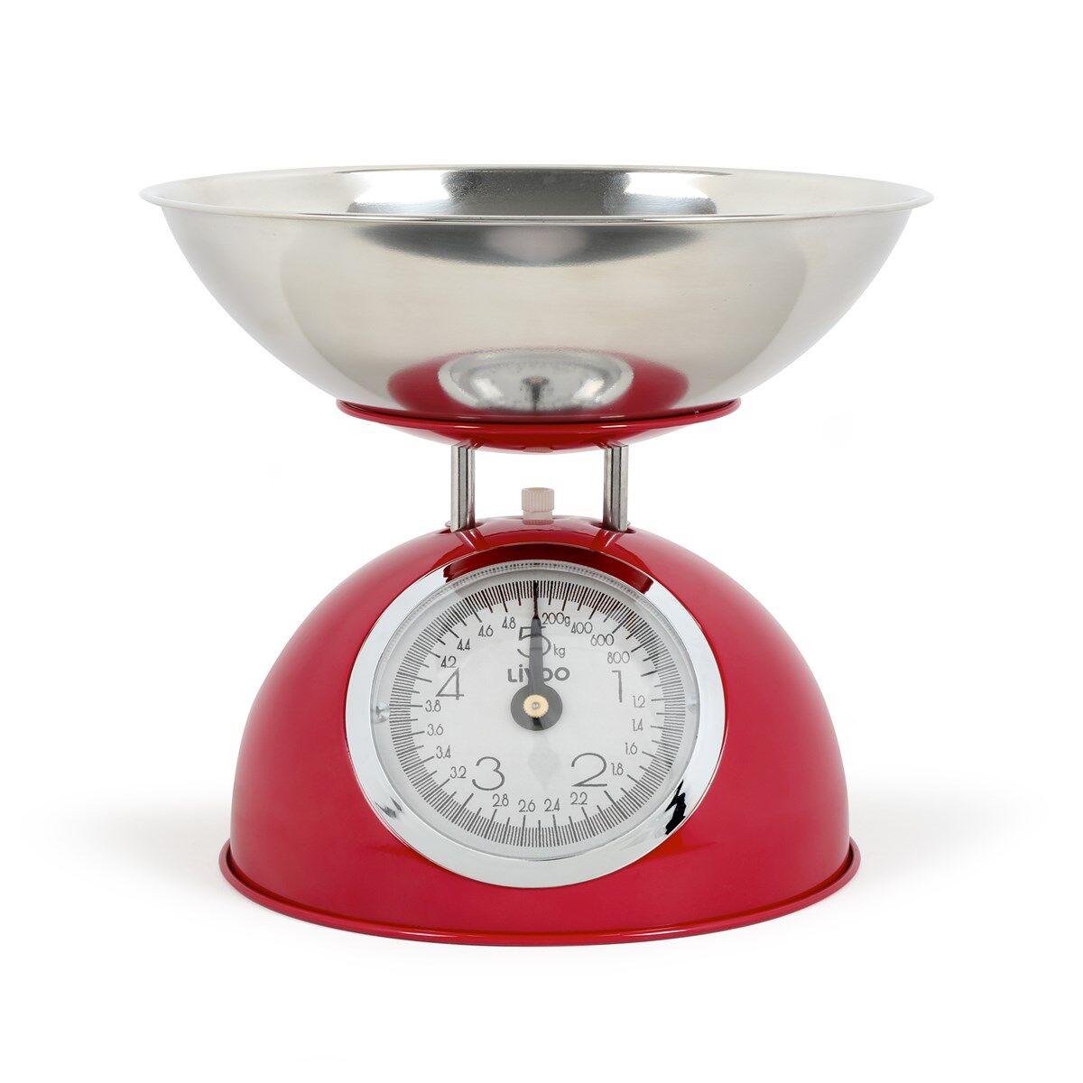 Livoo Balance de cuisine en acier inoxydable rouge