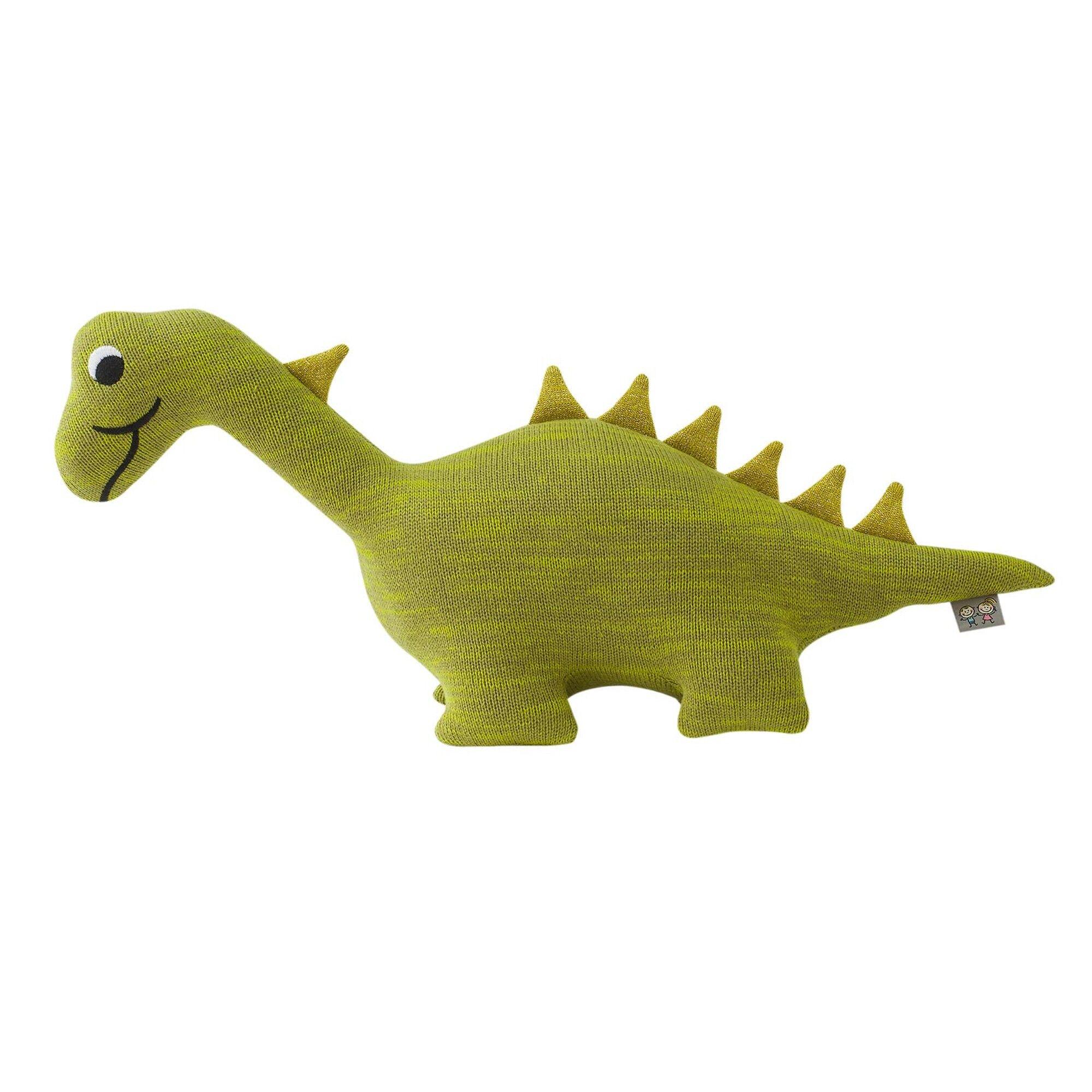 Sevira Kids Peluche dinosaure en tricot vert bébé