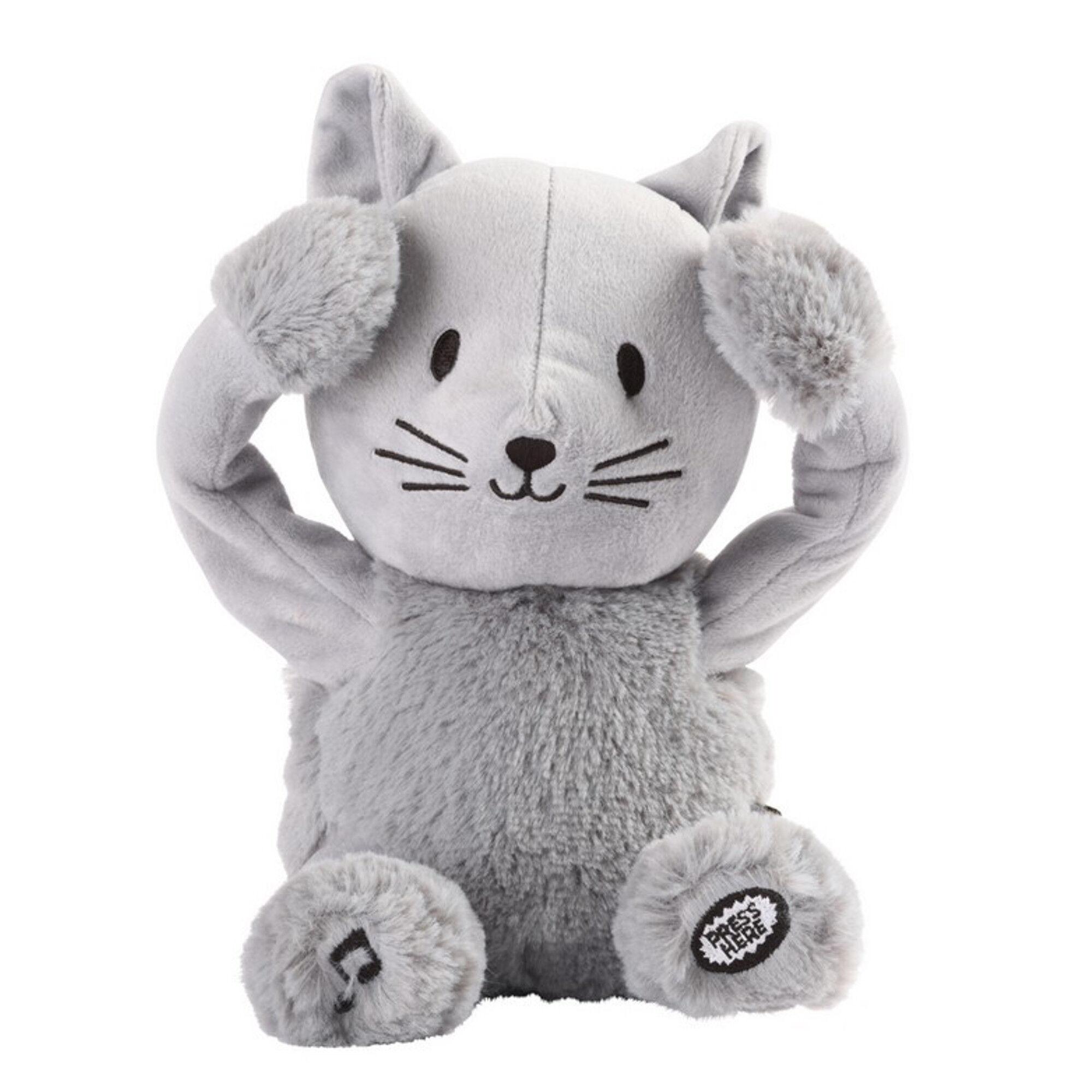 Sevira Kids Peluche  comptine  chat gris enfant