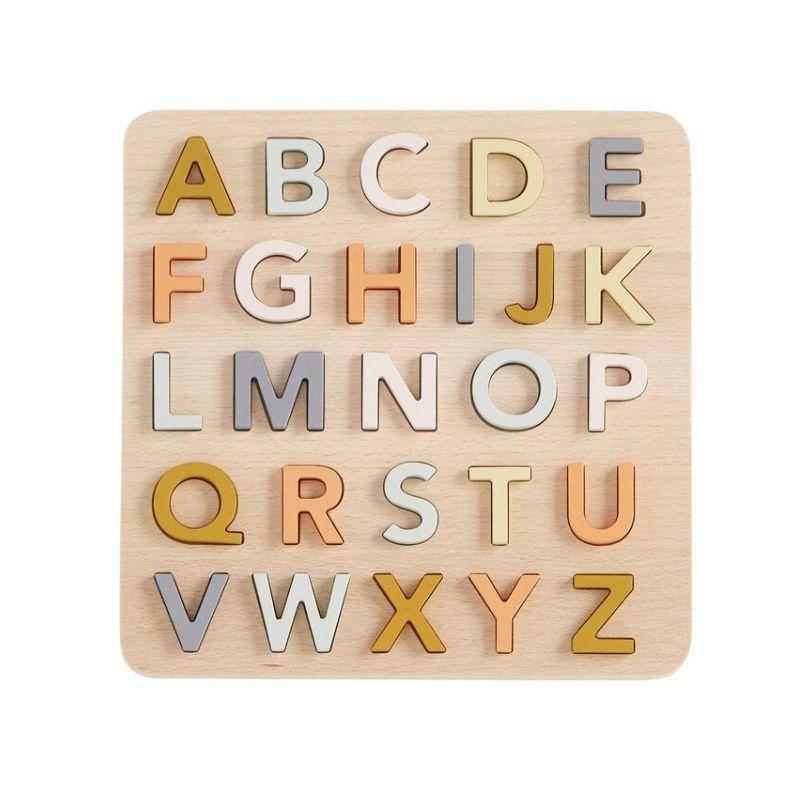 Kid's Concept Puzzle alphabet en bois multicolore