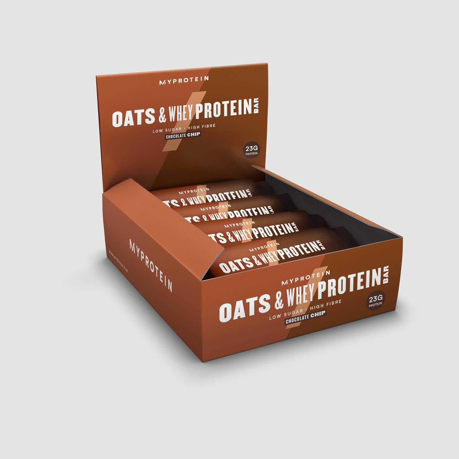 Myprotein Barre Flocon d'Avoine et Whey - Copeaux de chocolat