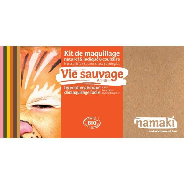 Namaki Coffret Maquillage Bio Namaki '8 couleurs Vie Sauvage' - Maquillage