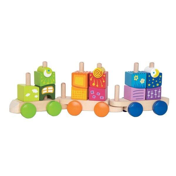 Hape Train de Cubes Fantasia - Jouets Bio Hape