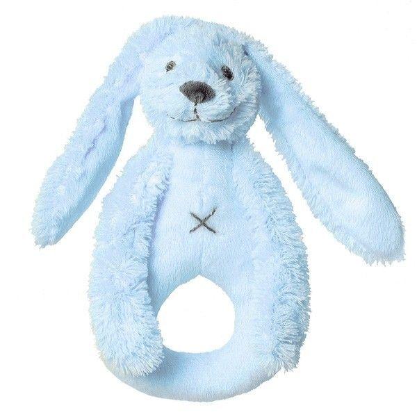 Happy Horses Hochet Lapin Richie Bleu Happy Horse - Doudou pour bébé