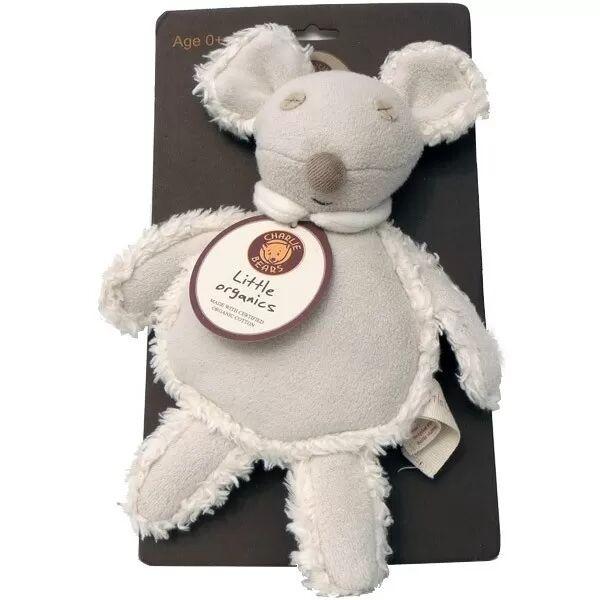 Charlie Bears Doudou Plat Charlie Bears Souris Milly - Doudou Coton Bio Oeko Tex