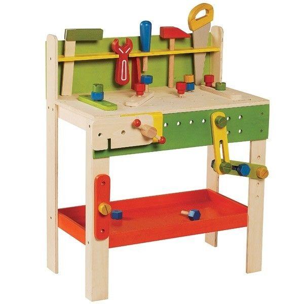 EverEarth® Jouet EverEarth  Grand Etabli 'charpentier' - Jouets en bois