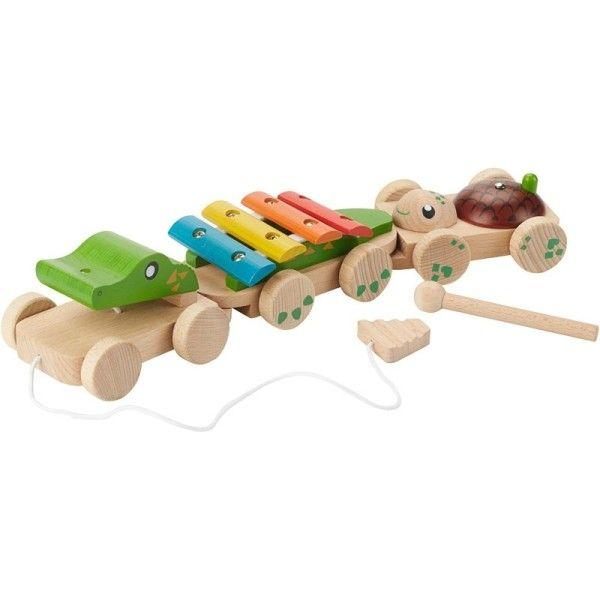 EverEarth® Train Musical Crocodile EverEarth® - Jouets bois