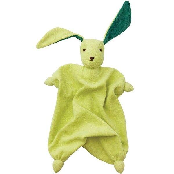 Peppa® & Hoppa® Peppa® Doudou Mouchoir Coton Bio Lapin Tino Vert Tilleul - Bébé Bio