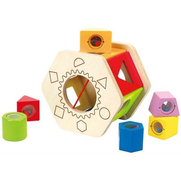 Hape Boîte à formes à Cubes Hochets Hape - Jouets Hape