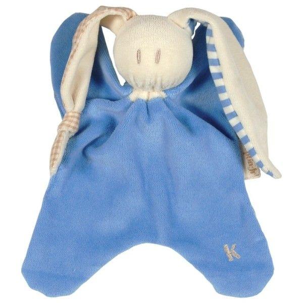 Keptin-Jr Doudou Coton Bio Keptin-jr Toddel Bleu Bleuet - Doudou Ecologique