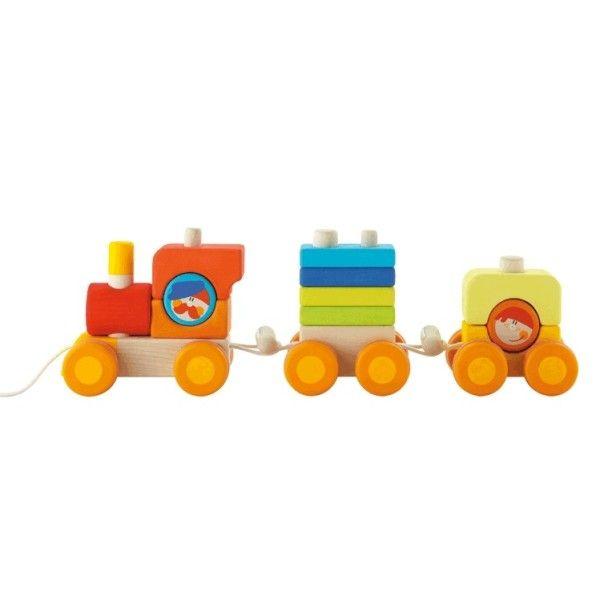 Sevi 1831 Train Cubes Sévi - Jouets en Bois