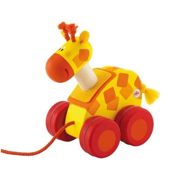Sevi 1831 Mini jouet à tirer Girafe Sévi - Jouet en Bois