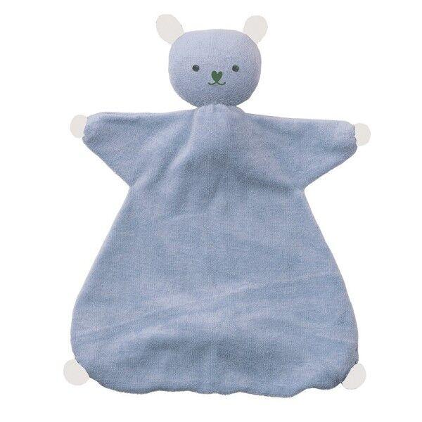 Peppa® & Hoppa® Doudou Hoppa® Plat Coton Bio Souris Indy Bleu & blanc - Doudou Bio