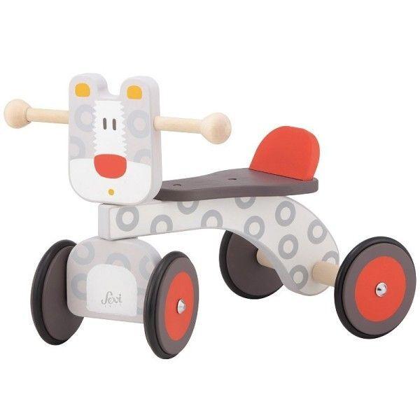 Sevi 1831 Porteur en bois 4 roues Jaguar Baby Buggy Sevi 1831 - Jouets en bois