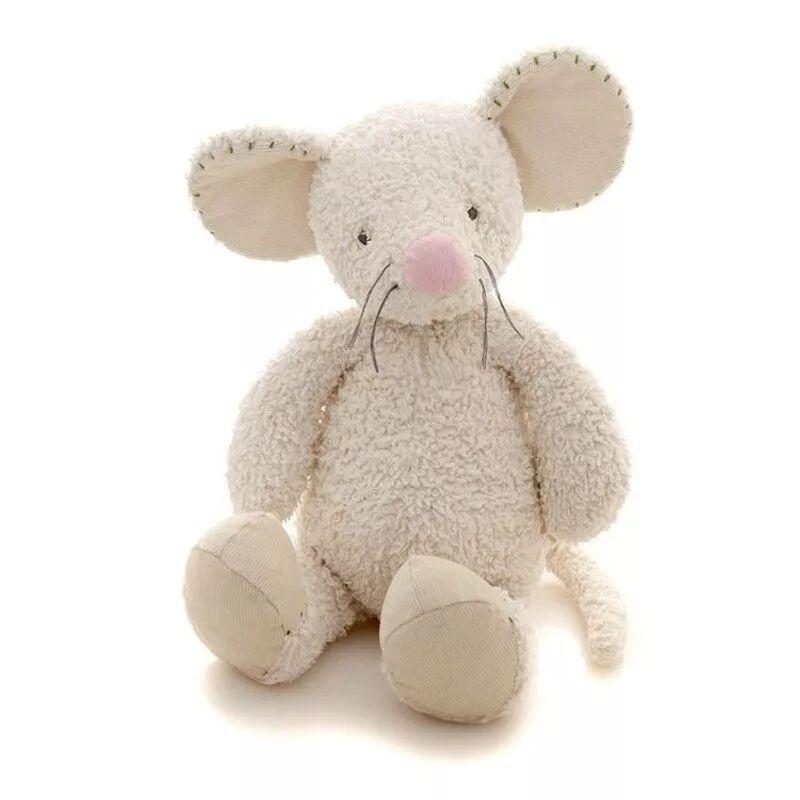 Charlie Bears Doudou Souris Marley Large (45 cm) - Doudou Coton Bio