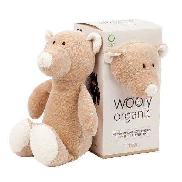 Wooly Organic Peluche Ours Bio 'Teddy'  Wooly Organic® Coton Bio Beige 17 cm -