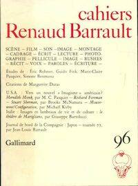 Cahiers Renaud-Barrault n°96 : Scène film son image montage - Collectif - Livre