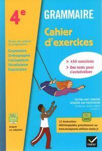 Grammaire 4e. Cahier d'exercices - A. Lomne - Livre