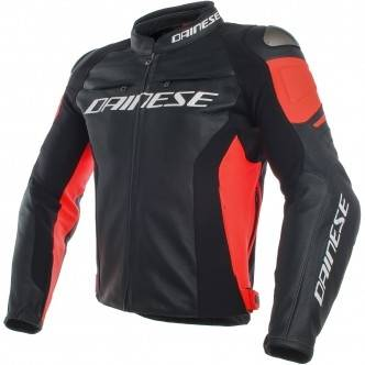 DAINESE Blouson DAINESE Racing 3 Estiva Black / Fluo-Red