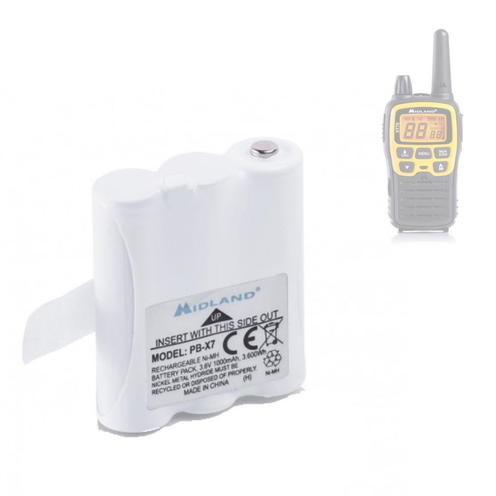 Midland Pack batterie pour Midland XT70 - PB-X7 Ni-Mh