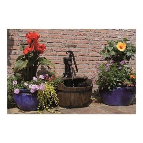 Ubbink Fontaine de jardin Ubbink Newcastle bois