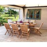Pegane Ensemble de jardin table ovale extensible + 8 chaises en bois... par LeGuide.com Publicité