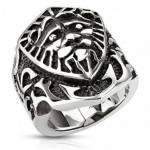 UrbanBijoux Bague anneau chevalière pour homme acier massif bouclier... par LeGuide.com Publicité