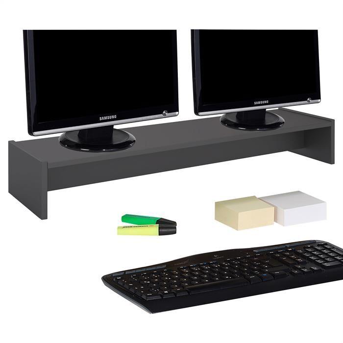 IDIMEX Support d'écran d'ordinateur SCREEN, en mélaminé gris mat