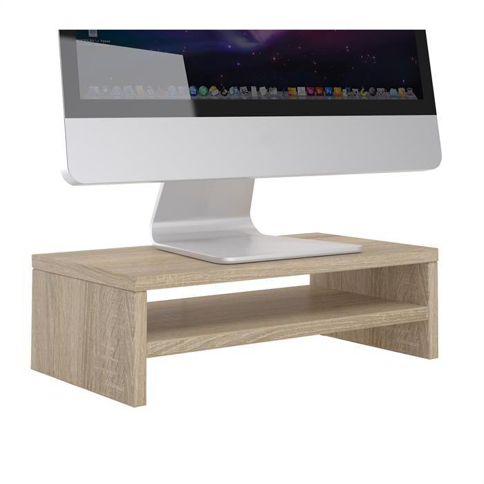 IDIMEX Support d'écran d'ordinateur DISPLAY, en mélaminé décor chêne sonoma