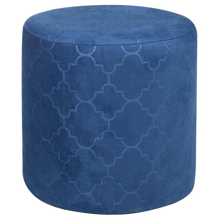IDIMEX Tabouret pouf ORLEANS, en velours bleu