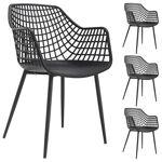 idimex  IDIMEX Lot de 4 chaises LUCIA, en plastique noir - Dimensions (L... par LeGuide.com Publicité