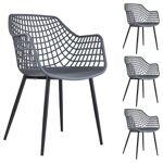 idimex  IDIMEX Lot de 4 chaises LUCIA, en plastique gris foncé - Dimensions... par LeGuide.com Publicité