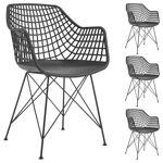idimex  IDIMEX Lot de 4 chaises ALICANTE, en plastique noir - Dimensions... par LeGuide.com Publicité