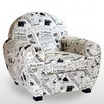alc  ALC Fauteuil Club design tissu patchwork de journaux ALC Le fauteuil... par LeGuide.com Publicité