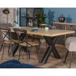 Meuble House Grande table 200cm bois pied croix métal Dimensions du meuble... par LeGuide.com Publicité