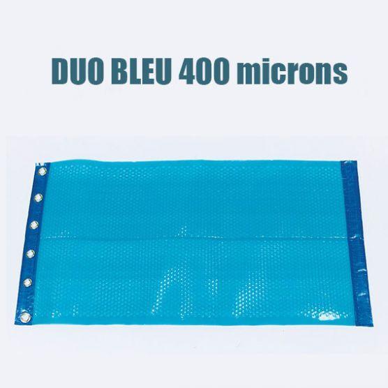 Piscine Shop Bâche piscine à bulles duo 400 bleu classique - Bordée 2 côtés - Bleu / Bleu