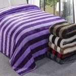 Plaid XXL Gaufre bicolore 220x240cm effet laine violet polyester Plaid... par LeGuide.com Publicité