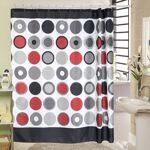 Rideau de douche rétro polyester Rideau de douche rétro imprimé dans... par LeGuide.com Publicité