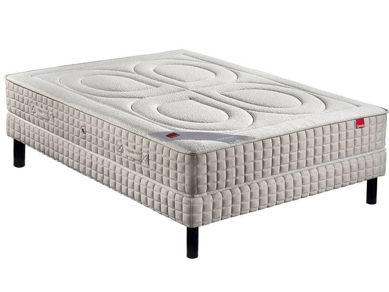 EPEDA Ensemble epeda matelas bambou + sommier + pieds 160x200