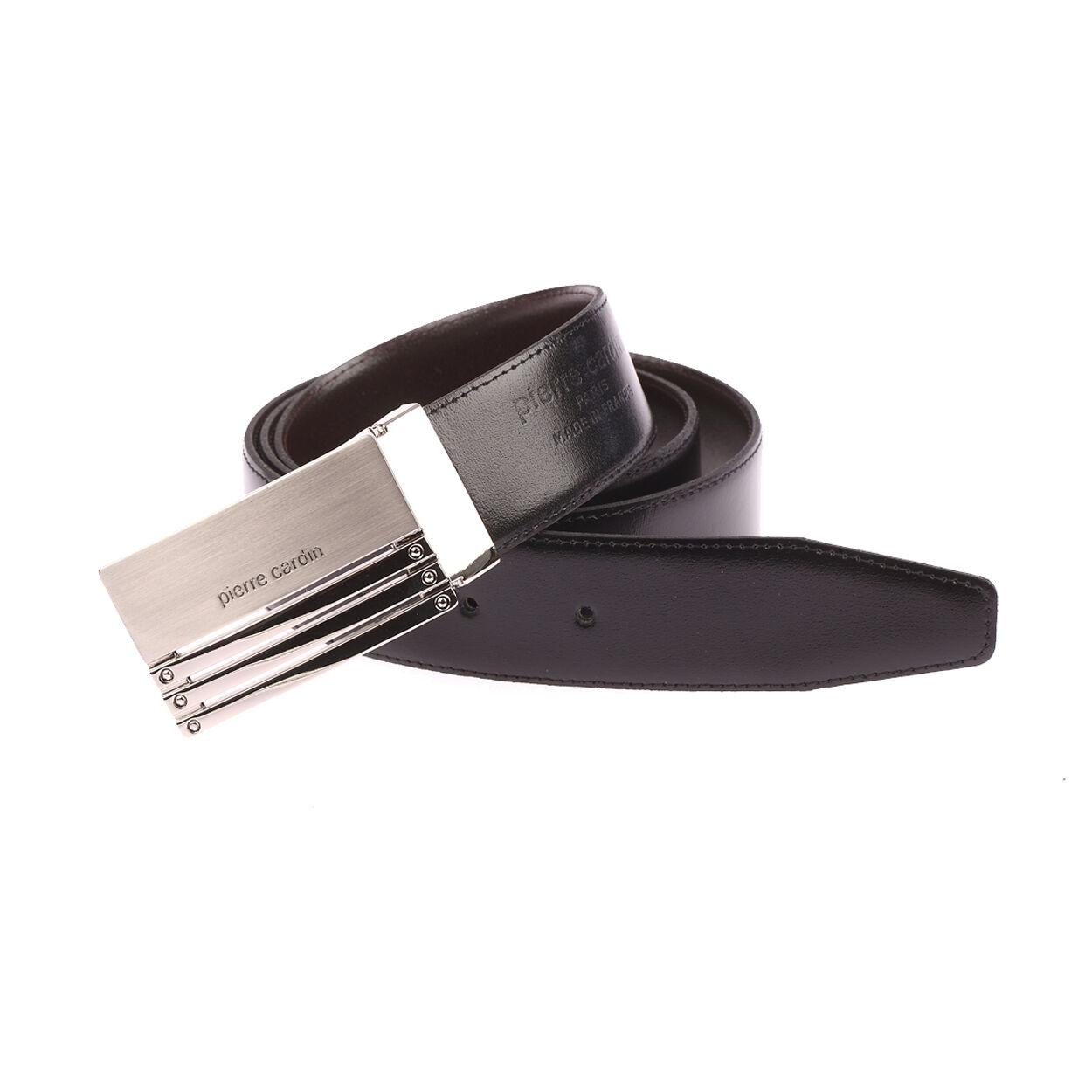 Pierre Cardin Accessoires Ceinture Pierre Cardin ajustable noire réversible marron à boucle pleine design