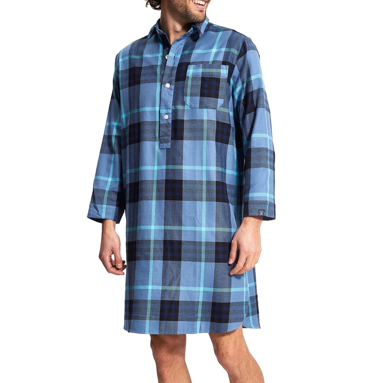 Arthur Liquette chemise Arthur Mcphee en coton bleu à carreaux - BLEU -