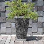 Wanda Collection Pot bac jardinière carré ardoise 80cm jardin terrasse... par LeGuide.com Publicité