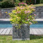 Wanda Collection Pot bac jardinière carré cube galet 50cm jardin zen... par LeGuide.com Publicité