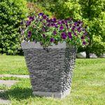 Wanda Collection Pot bac jardinière carré galet 50cm jardin extérieur... par LeGuide.com Publicité