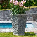 Wanda Collection Pot bac jardinière carré galet 80cm jardin extérieur... par LeGuide.com Publicité