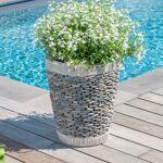Wanda Collection Pot bac jardinière conique galet 50cm Mettez en valeur... par LeGuide.com Publicité