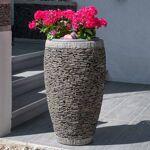 Wanda Collection Pot bac jardinière forme oeuf ardoise 80cm jardin pierre... par LeGuide.com Publicité